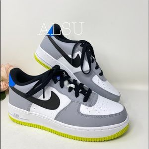 Nike Air Force 1 GS Wolf Leather Grey k/W AUTHENT